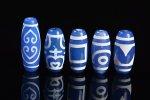 【大人気アイテム】【ブルーアゲートベース天珠】青天珠詰め合わせセット(5個入り)-14