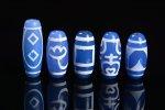 【大人気アイテム】【ブルーアゲートベース天珠】青天珠詰め合わせセット(5個入り)-18