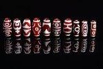 ★超激安セット★1個180円!赤瑪瑙ベース☆赤天珠詰め合わせセット(10個入り)-45