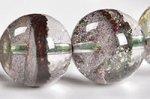 【正財運の象徴】【景観美を楽しめる天然石ブレスレット】☆グリーンやブラウンカラー☆水晶と内包物のバランスが良い☆ガーデン水晶ブレスレット約11mm-7