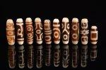 ☆発色が綺麗な象牙色☆激安☆図案色々☆象牙色天珠詰め合わせセット(10個入り)-4