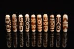 ☆発色が綺麗な象牙色☆激安☆図案色々☆象牙色天珠詰め合わせセット(10個入り)-5