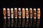 ☆発色が綺麗な象牙色☆激安☆図案色々☆象牙色天珠詰め合わせセット(10個入り)-7