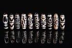【チベット天珠】☆1個200円の超激安タイプ☆黒タイプチベット天珠詰め合わせセット(10個入り)長さ約38mm-19