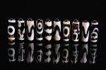 【チベット天珠】☆1個160円の超激安タイプ☆黒タイプチベット天珠詰め合わせセット(20個入り)長さ約28mm-4