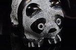 【プレゼント!】【一名様1個限定】☆お早い者勝ち☆【天然石アニマル彫刻】オブシディアン製パンダ彫刻置物(長さ約38mm)☆若干加工が荒い☆