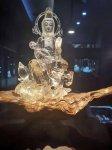 【リクエスト】天然石原石各種☆興味がある方お問い合わせください。-32(観音様彫刻天然水晶置物)