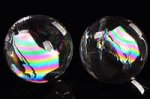 【1セット限定】【在庫現物】☆初入荷☆ボリューム満点!★美しいレインボー入り★高品質レインボー入り天然水晶大玉約20mm詰め合わせセット(1250g/79個入り)