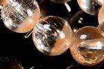 ★店長一押し商品★半分クリアで半分淡いオレンジカラー☆幻想な色合い☆オレンジアンフィボールインクォーツブレスレット約8mm-9
