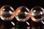 ★店長一押し商品★半分クリアで半分淡いオレンジカラー☆幻想な色合い☆オレンジアンフィボールインクォーツブレスレット約8mm-11