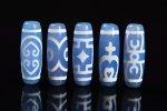 ★再入荷困難★【ブルーアゲートベース天珠】青天珠長さ38mm前後詰め合わせセット(5個入り)-7