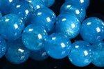 ☆大人気再入荷☆明るい蛍光ブルー☆少量雑色スポットあり☆アパタイトブレスレット詰め合わせセット(5本入り)-32