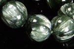 【天使の石】☆緑のベースにスワンのフェザーのような白い模様入り☆ビッグサイズ☆極上品質セラフィナイトブレスレット約10mm-43