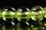 ★在庫追加★【格安美品】【8月誕生石】◎透明度が高い◎高品質小サイズペリドットブレスレット約5.5-6mm-42