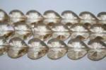 クリスタルガラスハートカットビーズ14mm−11(クリスタルイエロー)