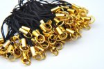 マルカン ストラップ紐 100本セット(ゴールド色)
