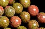 ユナカイト丸玉ビーズ10mm