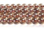 スモーキークォーツ(薄いタイプ)丸玉ビーズ6mm