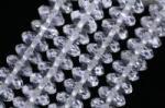 天然水晶ボタンカット64面5*10mm