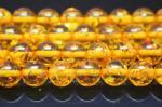 イエロー人工琥珀(樹脂)丸玉ビーズ10mm