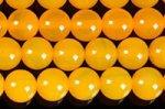 イエローアゲート(黄色い瑪瑙)(染め)丸玉 ビーズ6mm