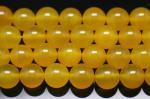濃い色 イエローアゲート(黄色い瑪瑙)(染め)丸玉 ビーズ12mm