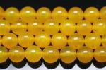 濃い色 イエローアゲート(黄色い瑪瑙)(染め)丸玉 ビーズ10mm