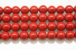 レッドヘマタイト(磁性あり、染め)丸玉ビーズ6mm