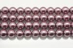薄いパープルヘマタイト(磁性あり、染め)丸玉ビーズ6mm