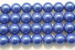 ブルーヘマタイト(磁性あり、染め)丸玉ビーズ10mm