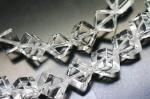 【対角線穴】 高品質天然水晶(クォーツ)キューブ(立方体)6*6mm