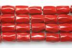 【チューブカット】赤ヘマタイト(磁性あり、染め)5*8mm