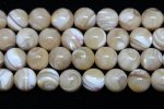 ブラウンマザーオブパール(真珠母貝/MOP)丸玉ビーズ8mm
