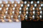 シャンパン色オーロラ水晶丸玉ビーズ6mm(type2)