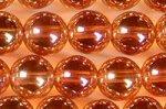 シャンパン色オーロラ水晶丸玉ビーズ8mm(type2)