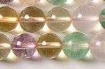【五行水晶代替品】水晶/アメジスト/シトリン/ローズクォーツ/フローライト8mm丸玉ビーズ