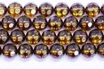 【鑑別済み】天然琥珀(アンバー)64面カット丸玉ビーズ(約6.4-7mm)−2