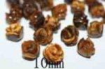 天然石薔薇(ローズ)型パーツ(タイガーアイ)(10mm)