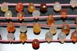 【高品質 ドロップカット 天然石 ビーズ】天然 カーネリアン 約6*9mm