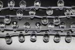 【高品質ドロップカット天然石ビーズ】天然本水晶約6*9mm