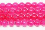 桃色ピンク アゲート(染め)丸玉 ビーズ 10mm 1302-2(濃い)