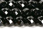 ブラックオニキス32面カットビーズ4mm