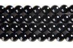 【天然石ビーズ1連】連長さ38cm前後 ブラックオニキス丸玉ビーズ 6mm