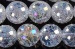 クラック入りレインボー水晶8mm(約40cm)