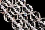 天然水晶丸玉64面カット10mmA(約40cm)