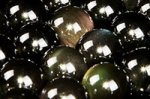 【天然石ビーズ1連】長さ38cm前後 レインボーオブシディアン丸玉ビーズ8mm
