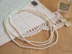 mini rice pearl long necklace