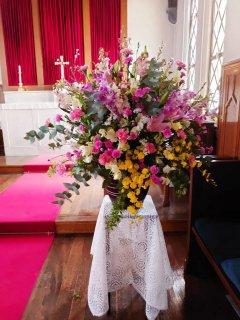 卒園式のつぼ花