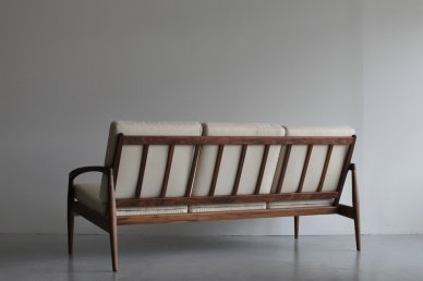 Paper Knife Sofa 3seat (walnut x cream) - Kai Kristiansen