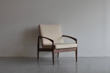 Paper Knife Sofa 1seat (walnut x cream) - Kai Kristiansen